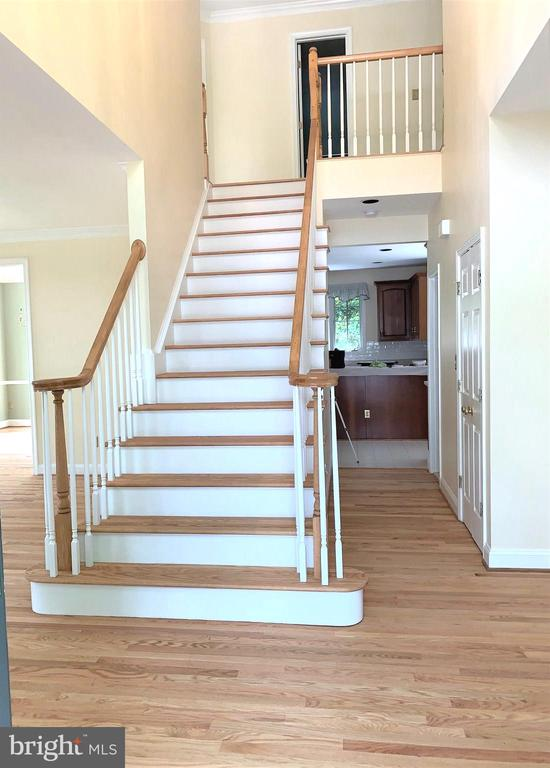 Sanded and refinished floors & stairs. - 2405 SAGARMAL CT, DUNN LORING