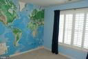 Bedroom #2 with fine plantation shutters - 12809 SHADOW OAK LN, FAIRFAX