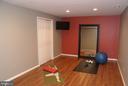 Lower level gym - 12809 SHADOW OAK LN, FAIRFAX