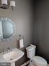 Main floor powder room with updates - 12809 SHADOW OAK LN, FAIRFAX