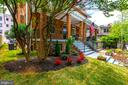 Front porch offers privacy and table space - 3624 NORTON PL NW, WASHINGTON