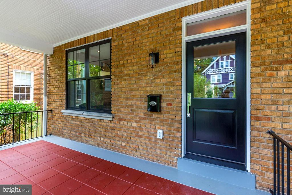 See gorgeous porch view reflecting off front door - 3624 NORTON PL NW, WASHINGTON