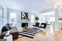 Living room with wood-burning fireplace - 3624 NORTON PL NW, WASHINGTON