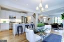 Open floor plan with table space & stool seating - 3624 NORTON PL NW, WASHINGTON
