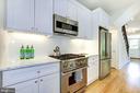 Chef's kitchen w/  side door to backyard & parking - 3624 NORTON PL NW, WASHINGTON
