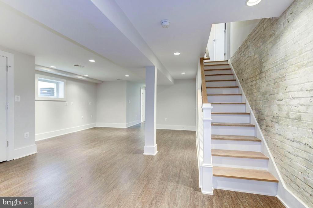 Lower level with natural lighting - 3624 NORTON PL NW, WASHINGTON