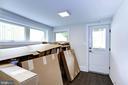 Lower level office, mudroom, access to backyard - 3624 NORTON PL NW, WASHINGTON
