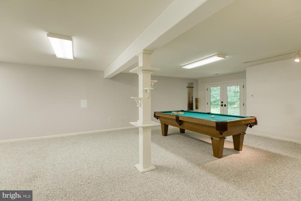 Basement Rec Room w/ Tons of Space to Entertain - 6814 ORCHID LN, FREDERICKSBURG