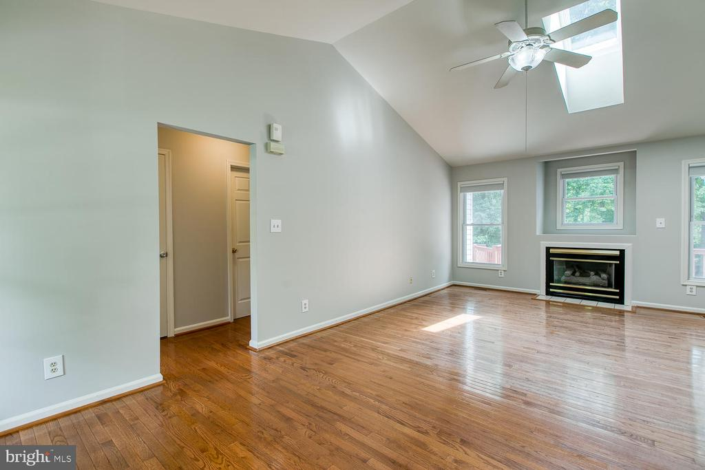 Family Room with Vaulted Ceiling, Skylight and FP - 6814 ORCHID LN, FREDERICKSBURG