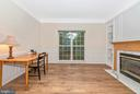 Study has big window and nice built in shelving. - 1706 DEARBOUGHT CT, FREDERICK