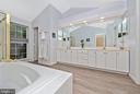 Master Bath with double sinks. - 1706 DEARBOUGHT CT, FREDERICK