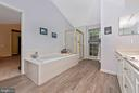 Relax in the soaking tub. - 1706 DEARBOUGHT CT, FREDERICK