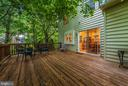 Deck with access off of kitchen/family room - 1706 DEARBOUGHT CT, FREDERICK