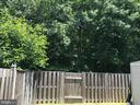 Backyard (Angle II - opens up to a larger area) - 8173 WILLOWDALE CT, SPRINGFIELD