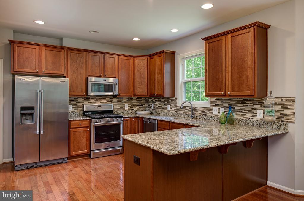 Gour Kitchen w/  ss appliances & custom backsplash - 16339 WOODGROVE RD, ROUND HILL