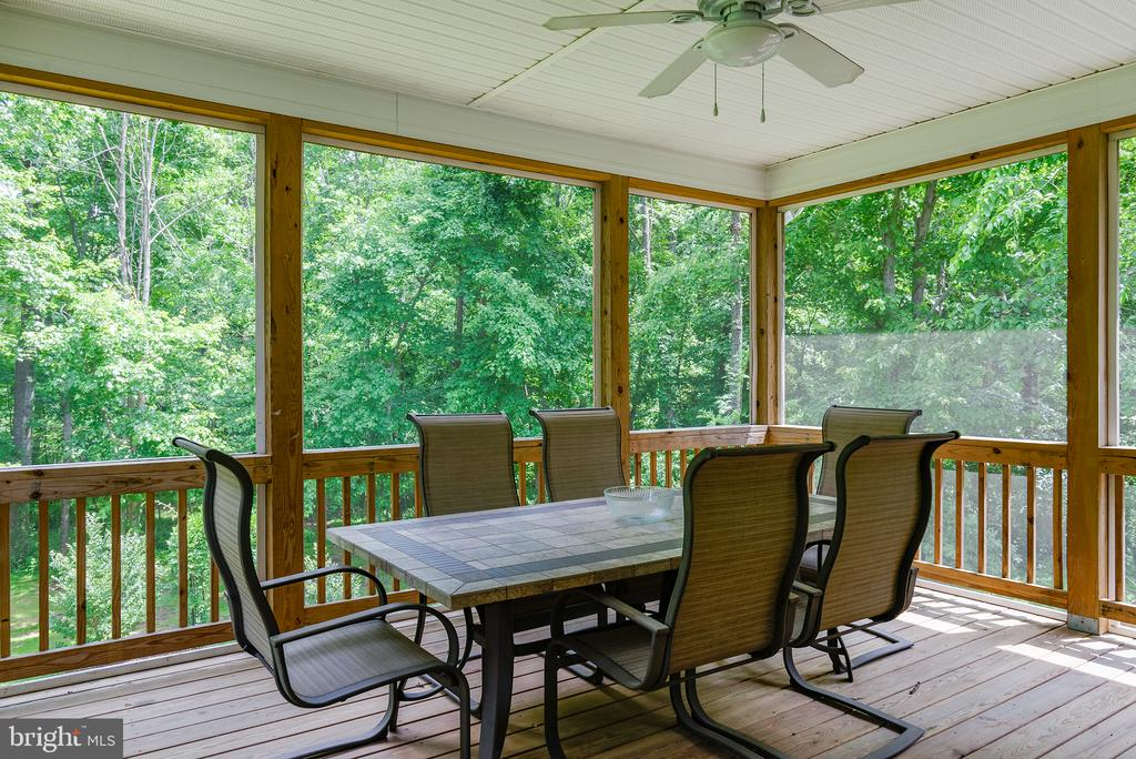 Relax on the screened in porch - 16339 WOODGROVE RD, ROUND HILL