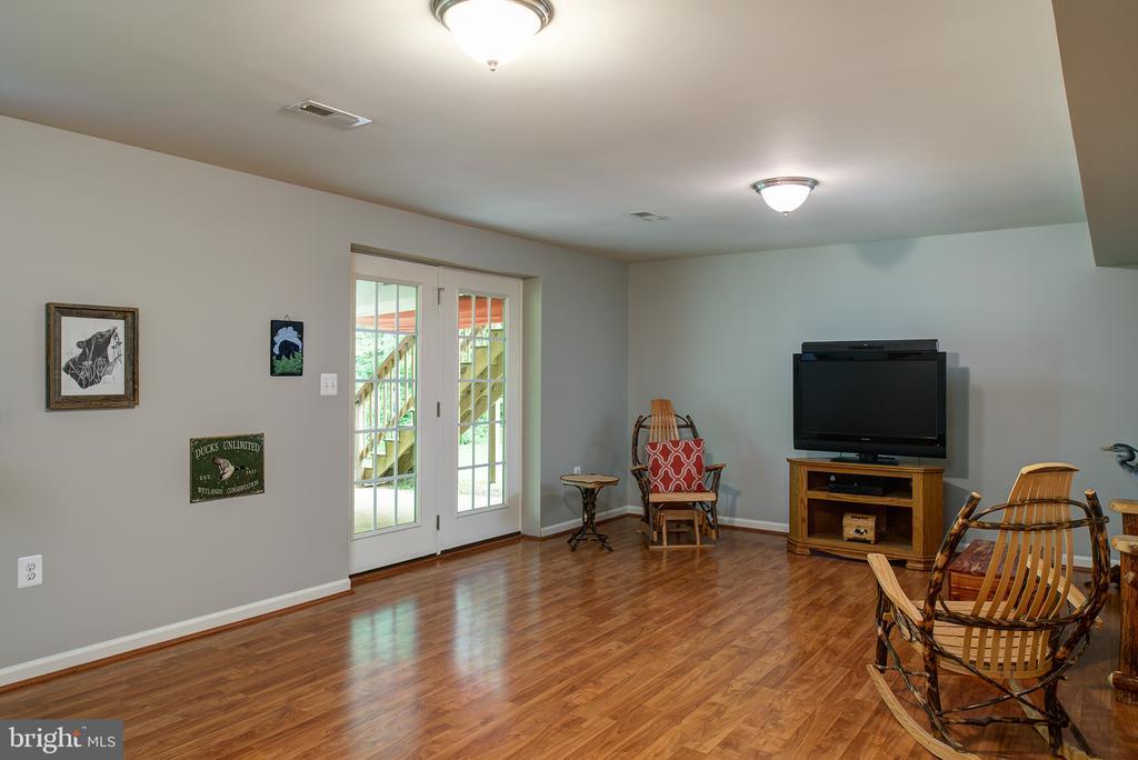 Basement Rec Room, wood floors - 16339 WOODGROVE RD, ROUND HILL