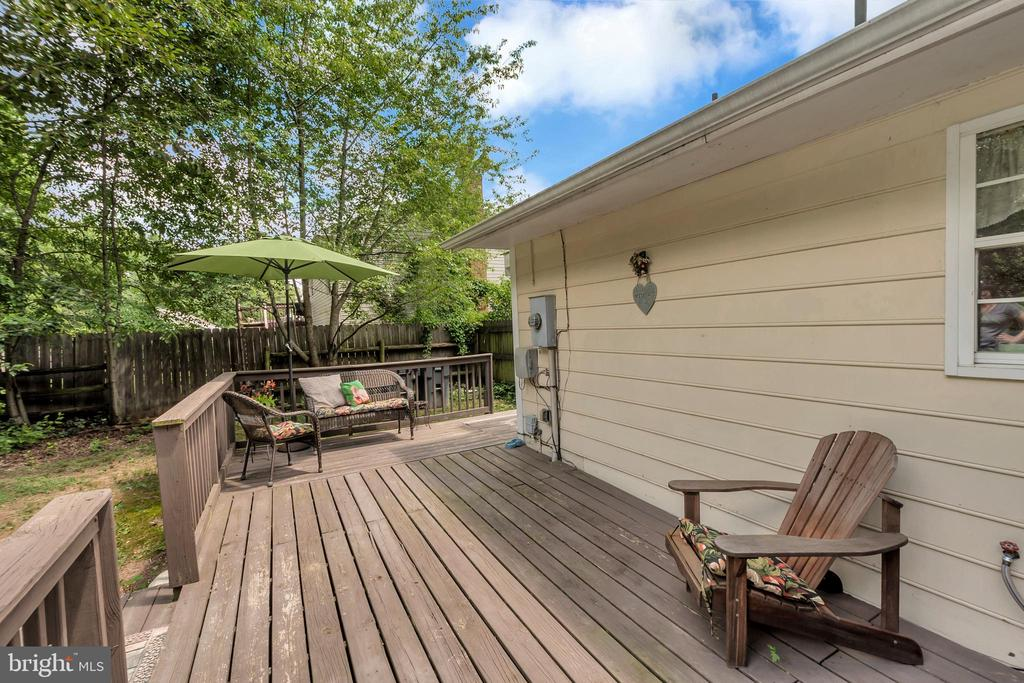 Relax on your private Deck - 107 PATTERSON AVE, FREDERICKSBURG