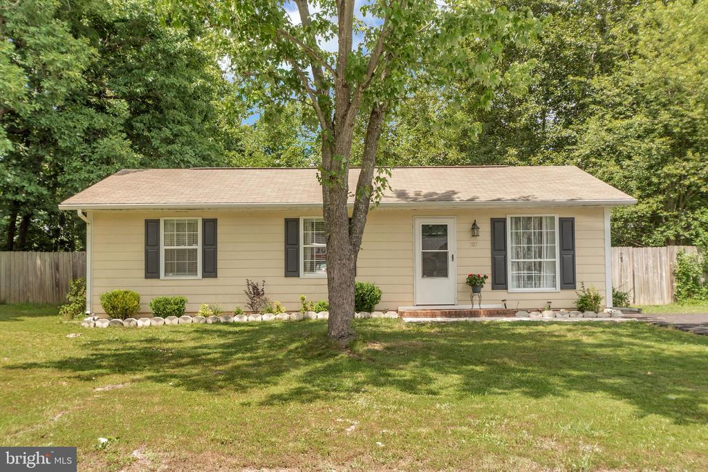 Front view - 107 PATTERSON AVE, FREDERICKSBURG
