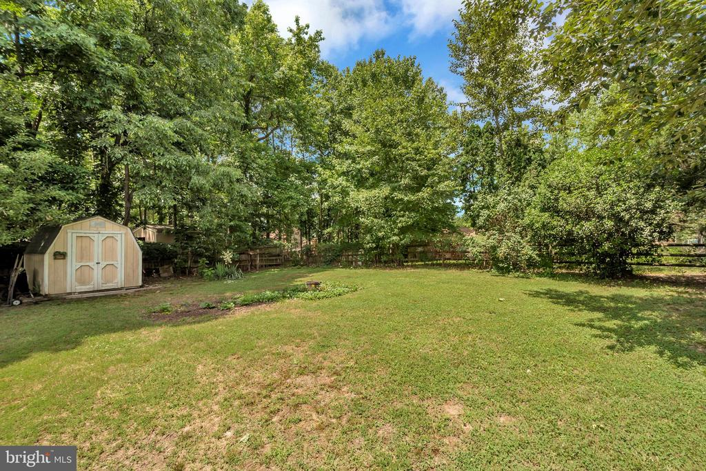Spacious fenced in backyard - 107 PATTERSON AVE, FREDERICKSBURG