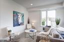 Living room - photo of similar unit in bldg - 1005 BRYANT ST NE #4, WASHINGTON