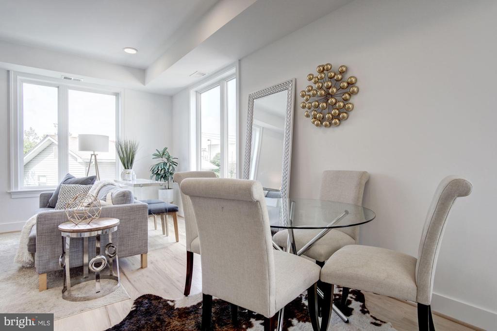 Room for dining space  - photo of similar unit in - 1005 BRYANT ST NE #4, WASHINGTON