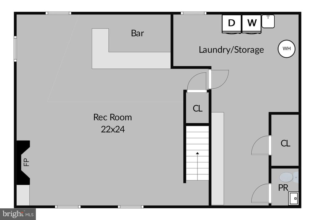 Lower Level Floor Plan - 2430 CARON LN, FALLS CHURCH