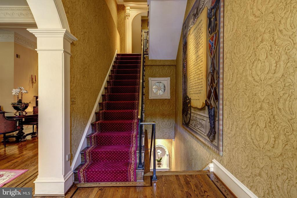 View of formal staircases. - 3327 N ST NW, WASHINGTON