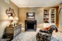Fireplace and seating area in master suite. - 3327 N ST NW, WASHINGTON