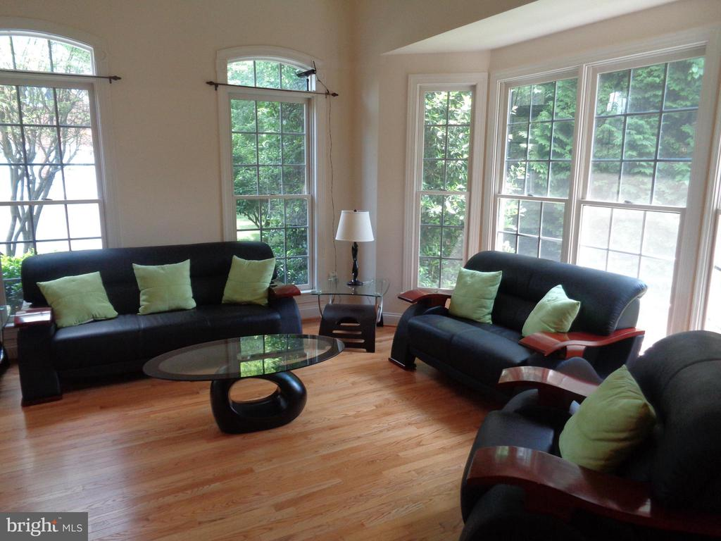 Living Room with Gorgeous Windows and HW Flooring - 4524 MOSSER MILL CT, WOODBRIDGE