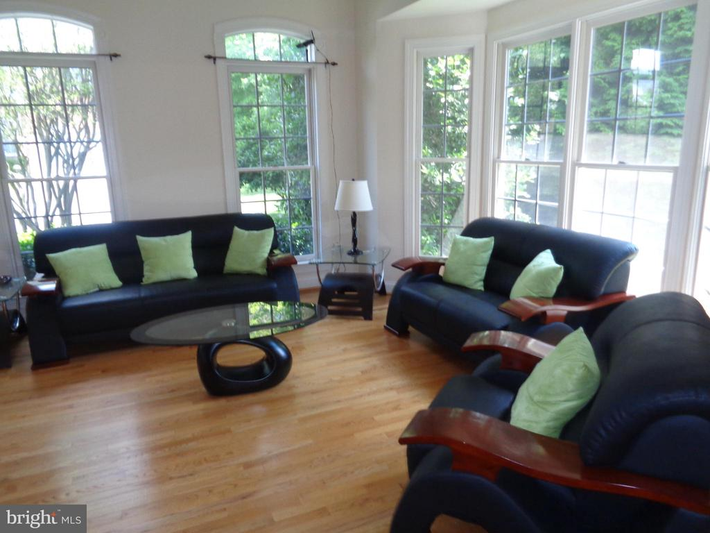 Family Room with Transom Windows - 4524 MOSSER MILL CT, WOODBRIDGE