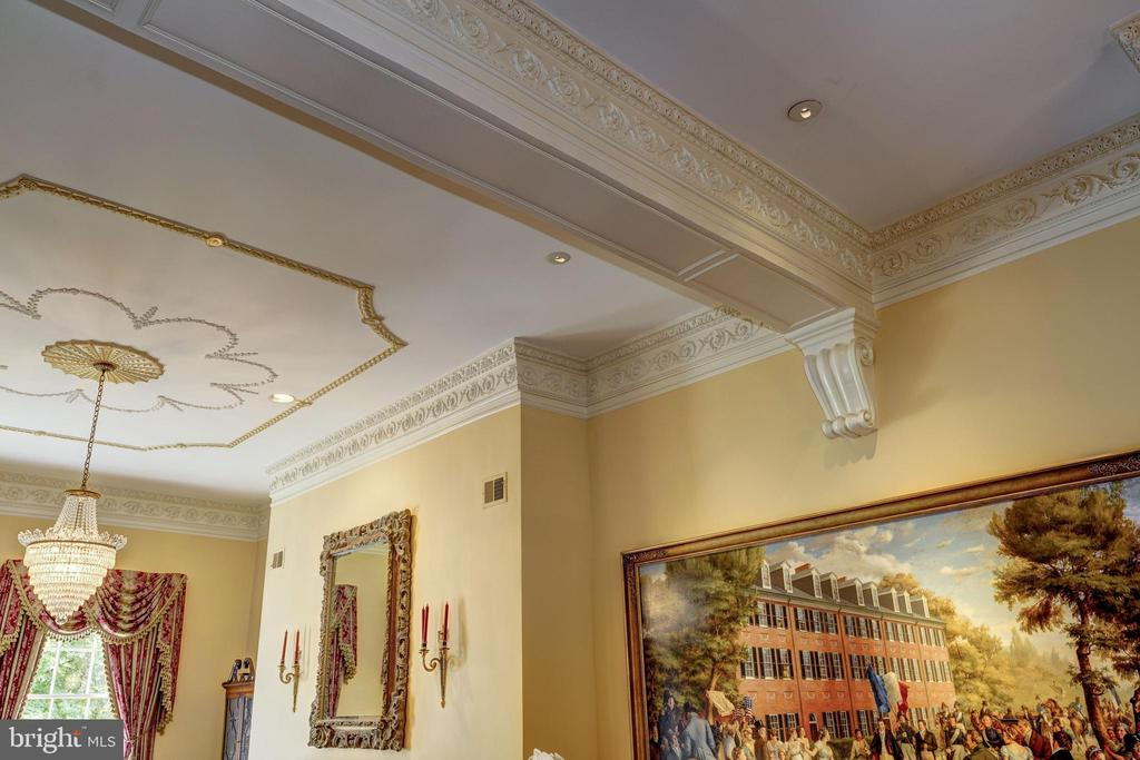 Crown moldings in parlor. - 3327 N ST NW, WASHINGTON