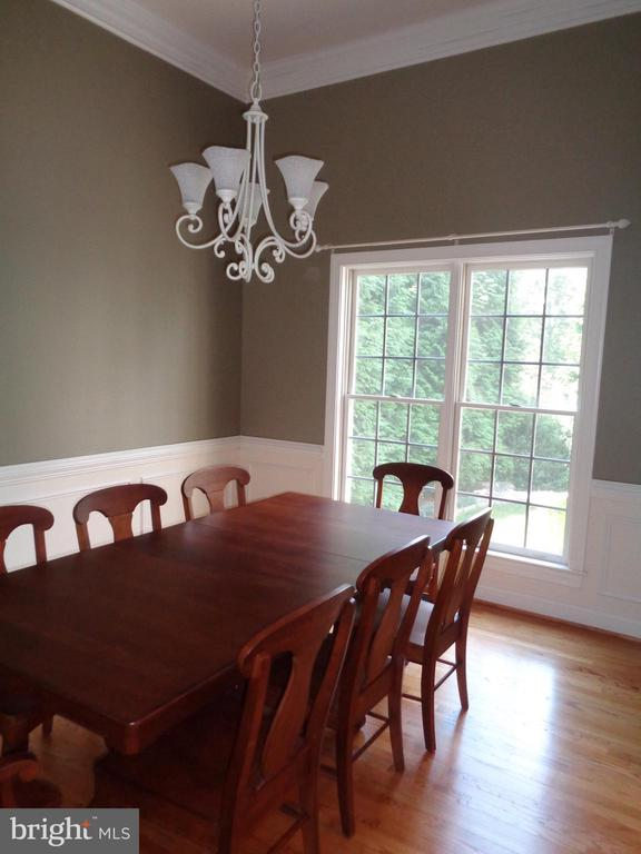 Dramatic 12' Ceilings in Dining Room - 4524 MOSSER MILL CT, WOODBRIDGE