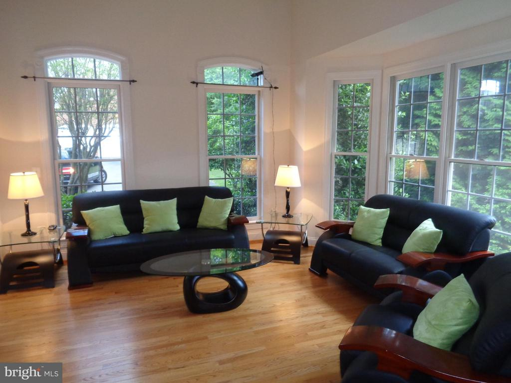 Living Room features 12' Ceilings - 4524 MOSSER MILL CT, WOODBRIDGE