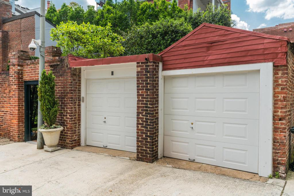 Two of four garages. - 3327 N ST NW, WASHINGTON
