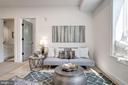Living room - photo of similar unit - 1005 BRYANT ST NE #2, WASHINGTON