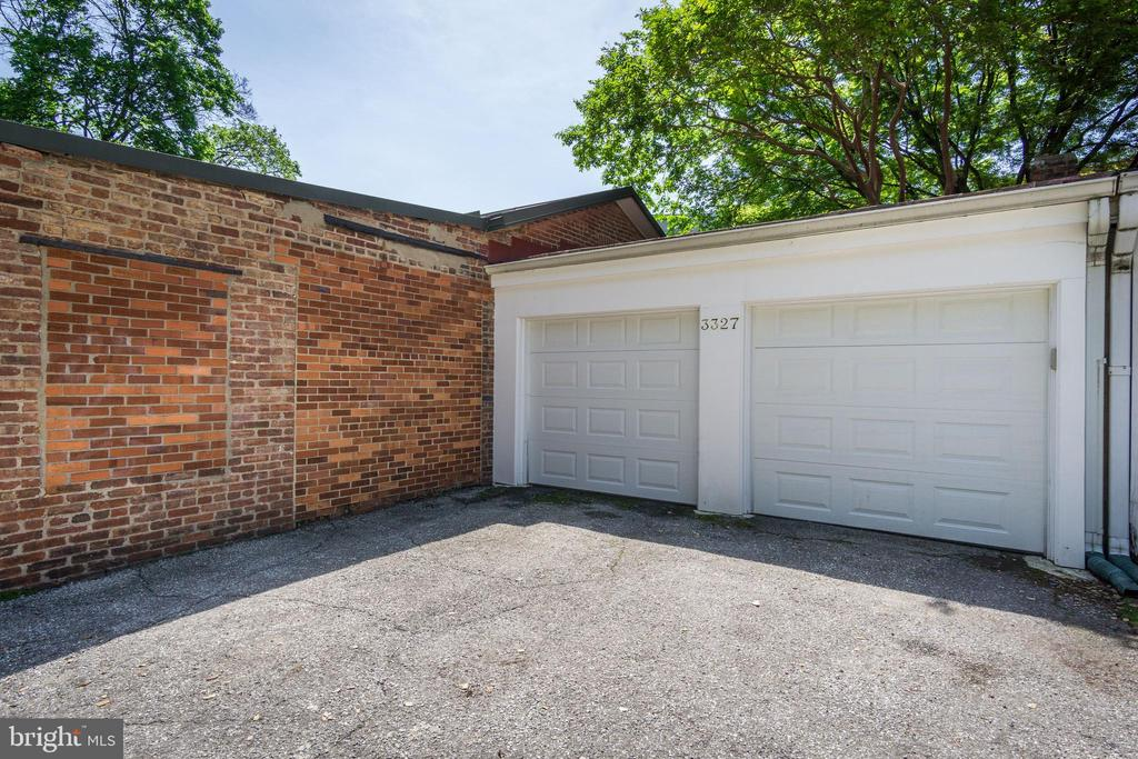 Photo of the other two garages. - 3327 N ST NW, WASHINGTON