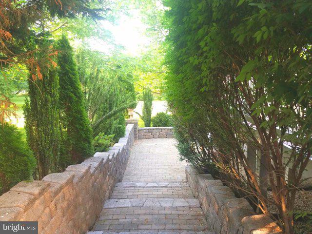 Brick walkway to rear yard - 40674 JADE CT, LEESBURG