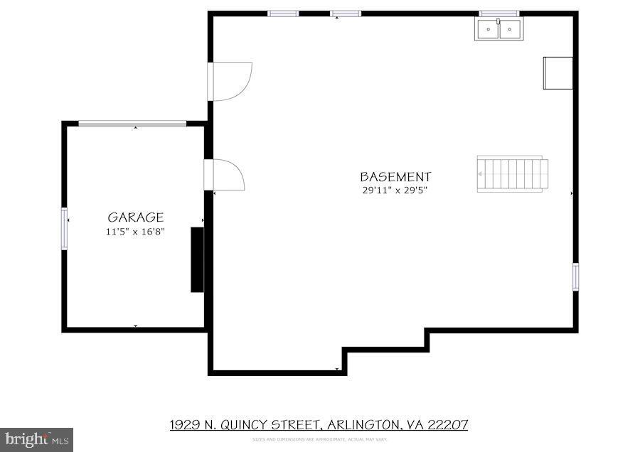 Basement Floor Plans - 1929 N QUINCY ST, ARLINGTON