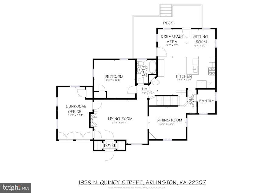 Main level Floor PLans - 1929 N QUINCY ST, ARLINGTON
