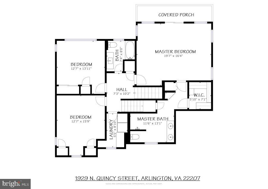 Second Level Floor Plans - 1929 N QUINCY ST, ARLINGTON