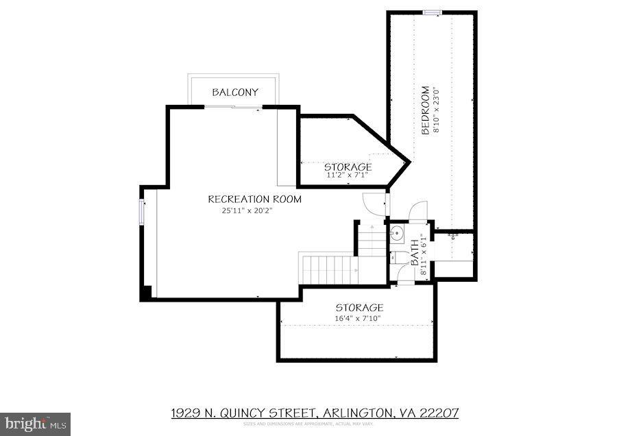 Third Level Floor Plans - 1929 N QUINCY ST, ARLINGTON