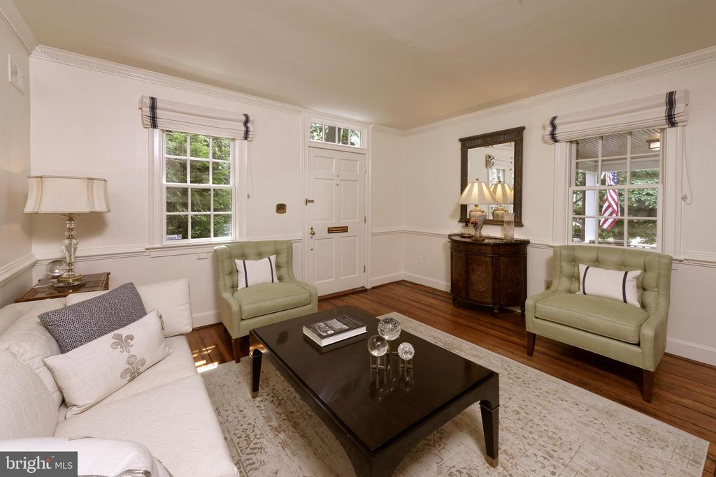 This intimate, lovely living room is circa 1840 - 639 S SAINT ASAPH ST, ALEXANDRIA