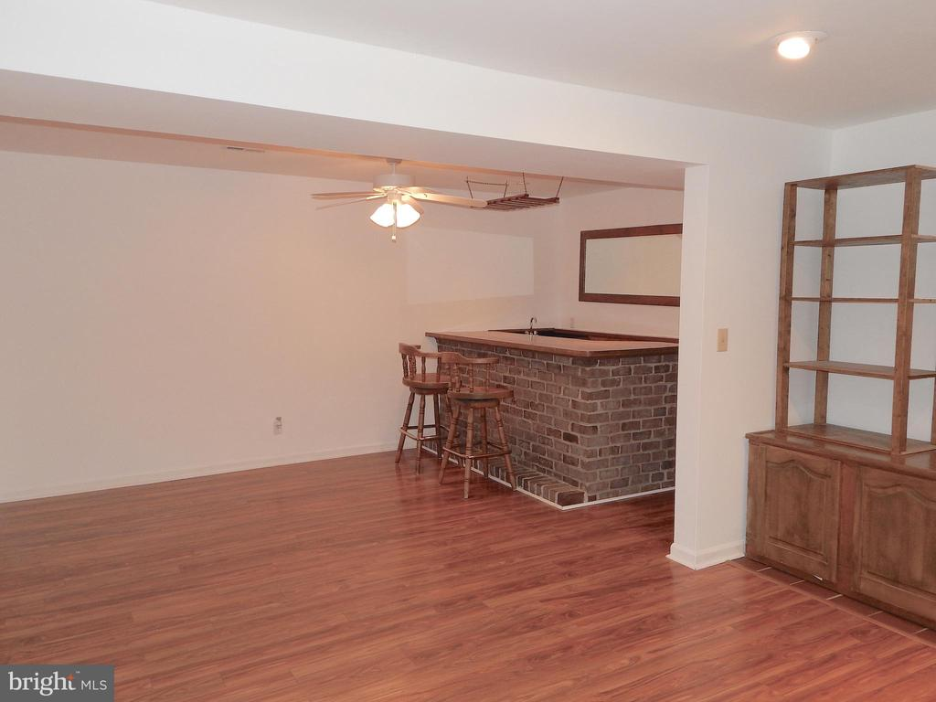 Huge family rm w/bar and TV shelving that convey. - 340 ALBANY ST, FREDERICKSBURG