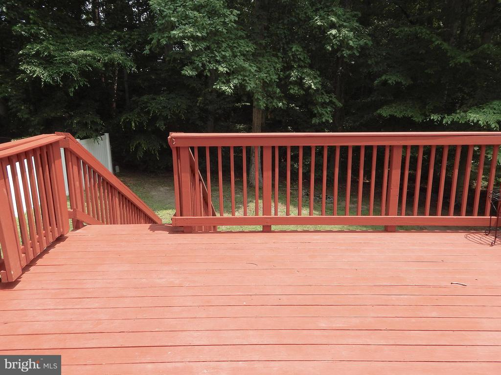 Spacious deck w/awesome view of wooded rear - 340 ALBANY ST, FREDERICKSBURG