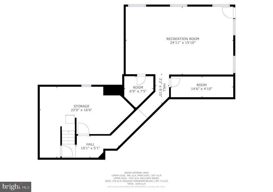 Basement floorplan - 2272 COMPASS POINT LN, RESTON