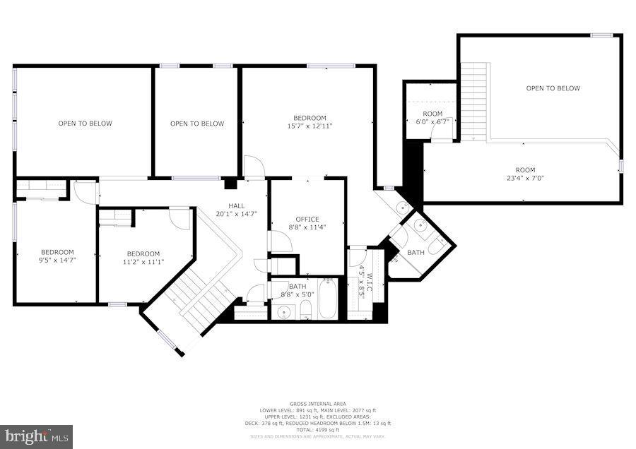 Upper level floorplan - 2272 COMPASS POINT LN, RESTON