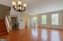 Living Room/Dining Room - 17378 HOT SPRINGS WAY, DUMFRIES