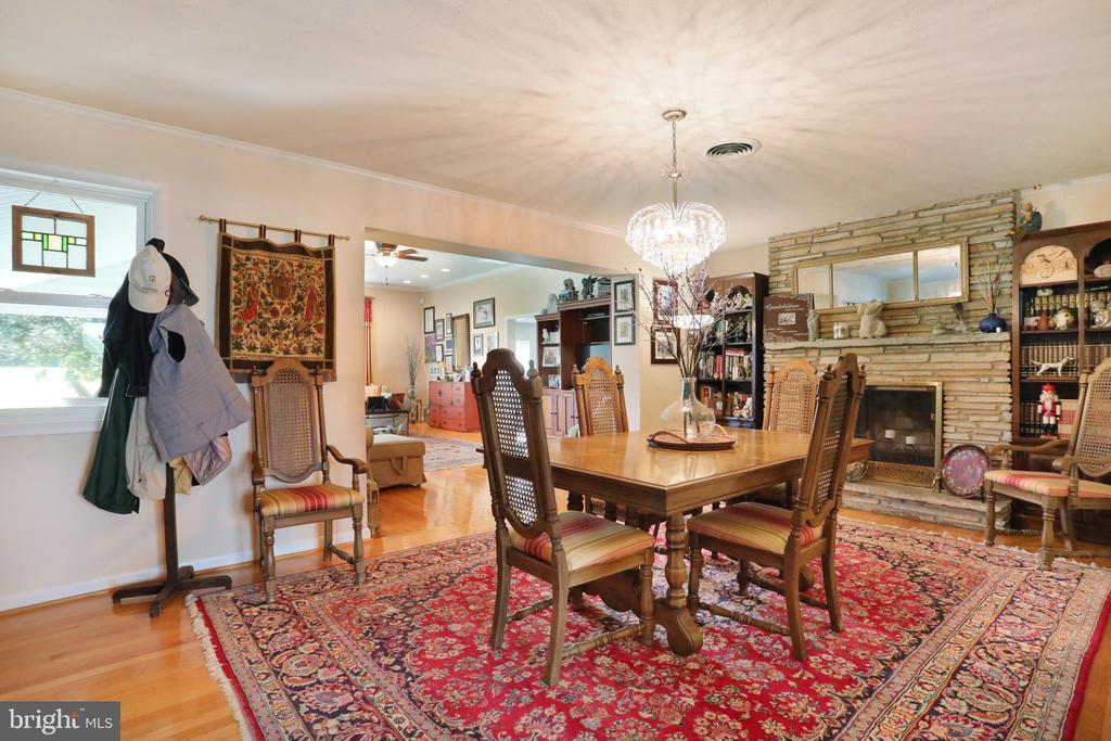 Formal Dining Room with Fireplace - 1105 REDBUD RD, WINCHESTER