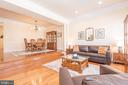 Living Room  Opens to Dining Room - 21893 HAWKSBURY TER, BROADLANDS